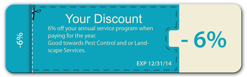 Pest Control Coupon lawn service